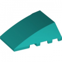 LEGO 6249429 BRIQUE 4X4 W. BOW/ANGLE - BRIGHT BLUEGREEN