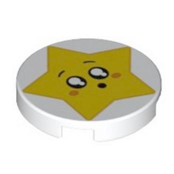 LEGO 6254648 ROND 2X2 - IMPRIME ETOILE