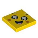 LEGO 6253211 IMPRIME 2X2 VISAGE - JAUNE