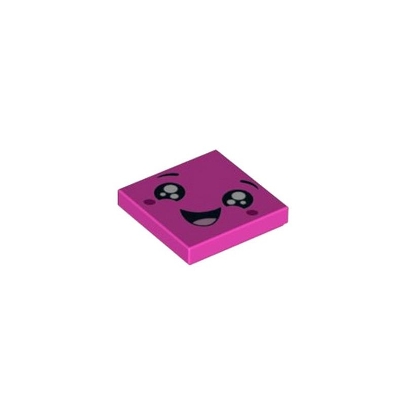 LEGO 6253298 IMPRIME 2X2 VISAGE - ROSE