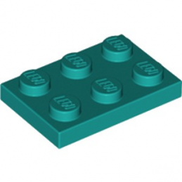 LEGO 6249417 PLATE 2X3 - BRIGHT BLUEGREEN