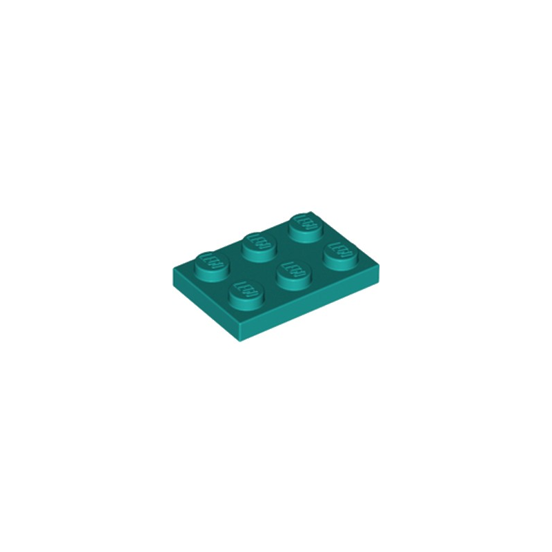 LEGO 6249417 PLATE 2X3 - BRIGHT BLUEGREEN