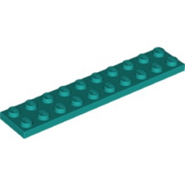 LEGO 6249538 PLATE 2X10 - BRIGHT BLUEGREEN