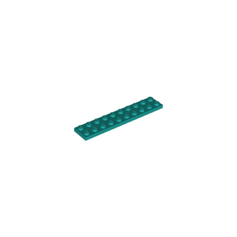 LEGO 6249538 PLATE 2X10 - BRIGHT BLUEGREEN