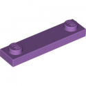 LEGO 6133505 PLATE 1X4 W. 2 KNOBS - MEDIUM LAVENDER