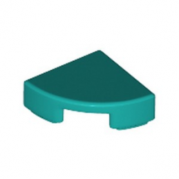 LEGO 6240467 PLATE LISSE 1/4 ROND 1X1 - BRIGHT BLUEGREEN