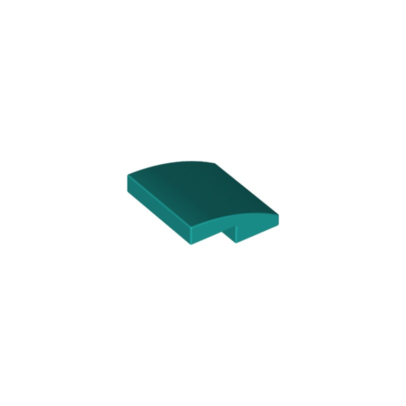 LEGO 6223665 BRIQUE DOME 2X2X2-3 - BRIGHT BLUEGREEN