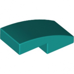 LEGO 6249427 PLATE W. BOW 1X2X2/3 - BRIGHT BLUEGREEN