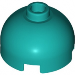 LEGO 6249559 BRIQUE RONDE DOME 2X2 - BRIGHT BLUEGREEN