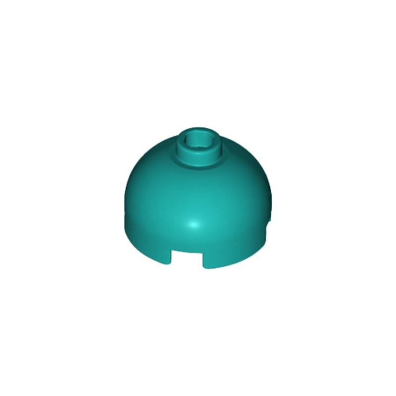 LEGO 6249559 BRIQUE RONDE DOME 2X2 - BRIGHT BLUEGREEN