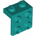 LEGO 6249425 ANGLE PLATE 1X2 / 2X2 - BRIGHT BLUEGREEN