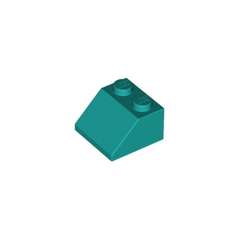 LEGO 6249419 TUILE 2X2/45° - BRIGTH BLUEGREEN