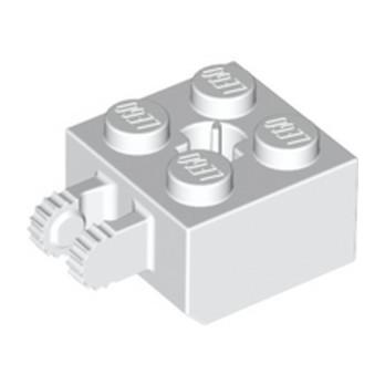 LEGO 6249388 BRIQUE 2X2 FRIC/FORK VERT./END - BLANC