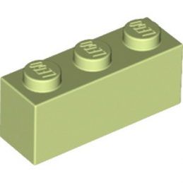 LEGO 6172762 BRIQUE 1X3 - SPRING YELLOWISH GREEN