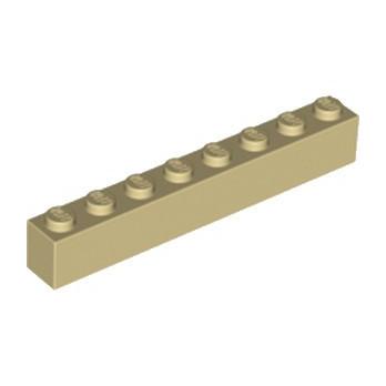 LEGO 300805 BRIQUE 1X8 - BEIGE