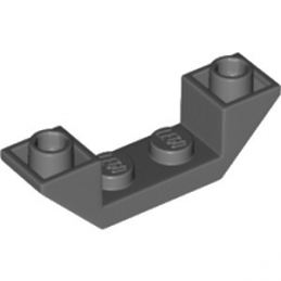 LEGO 6185675 ROOF TILE 1X4, INV., DEG. 45, W/ CUTOUT - DARK STONE GREY