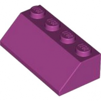LEGO 4518889 TUILE 2X4/45° - MAGENTA