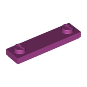 LEGO 6115085 PLATE 1X4 W. 2 KNOBS - MAGENTA