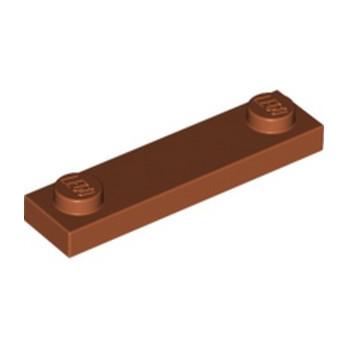 LEGO 6186047 PLATE 1X4 W. 2 KNOBS - DARK ORANGE lego-6257603-plate-1x4-w-2-knobs-dark-orange ici :