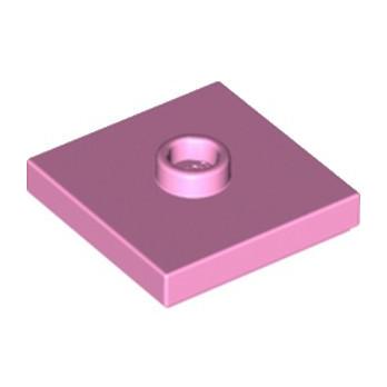 LEGO 6251842 PLATE 2X2 W 1 KNOB - ROSE CLAIR