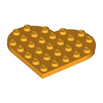 LEGO 46342 COEUR 6X6 - FLAME YELLOWISH ORANGE lego-6252674-plate-6x6-heart-flame-yellowish-orange ici :