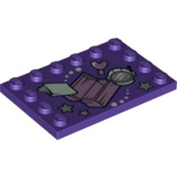 LEGO 6253846 PLAQUE IMPRIME 4X6 - MEDIUM LILAC
