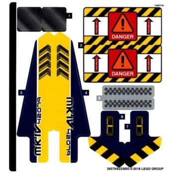 Stickers / Autocollant Lego Technic 42079