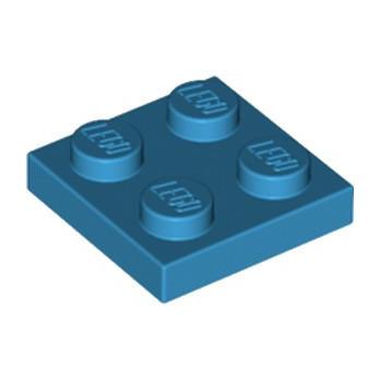 LEGO 6206809 PLATE 2X2 - DARK AZUR