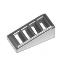 LEGO 6092115 GRILLE 1X2X2/3 - METAL SILVER