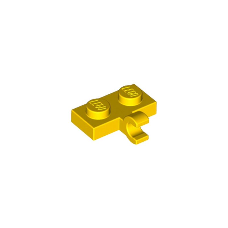LEGO 6179329 PLATE 1X2 W. 1 HORIZONTAL SNAP - JAUNE