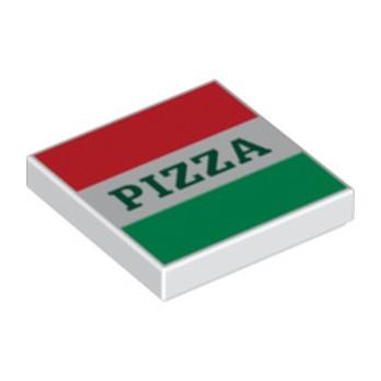 LEGO 6175184 BOITE A PIZZA 2X2 - IMPRIME