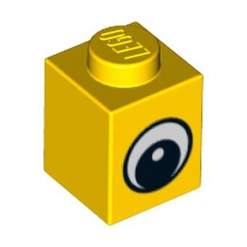 LEGO 4569076 BRIQUE 1X1 IMPRIME JAUNE OEIL