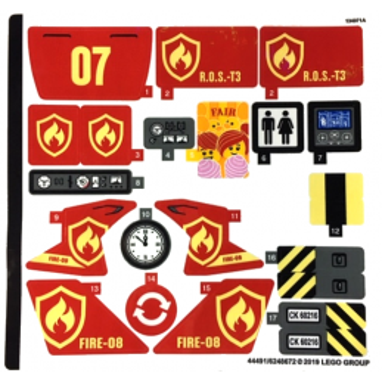 Stickers / Autocollant Lego City 60216