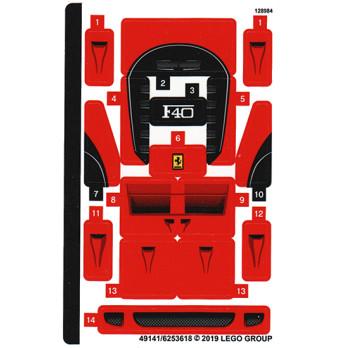 Stickers / Autocollant Lego Speed Champions 75890