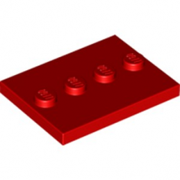 LEGO 6250570 PLATE 3X4 WITH 4 KNOBS - ROUGE