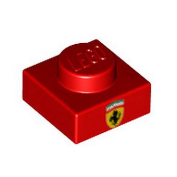 LEGO 6253610 PLATE 1X1 - IMPRIME ROUGE LOGO FERRARI
