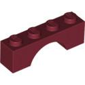 LEGO 6146854 BRIQUE ARCHE 1X4 -  NEW DARK RED