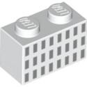 LEGO 6253517 BRIQUE 1X2 - IMPRIME BLANC