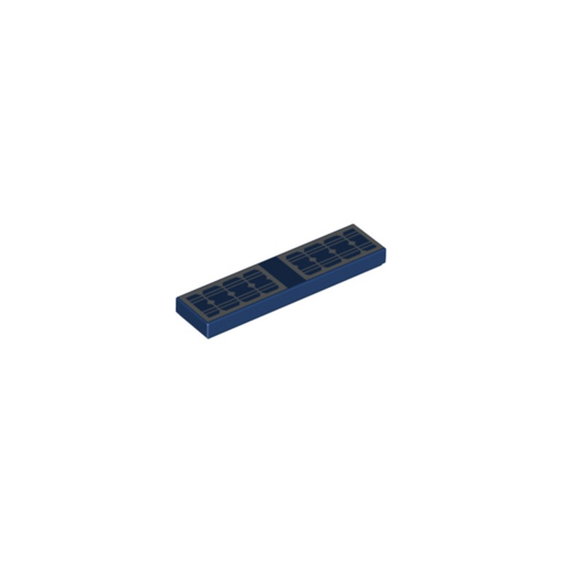 LEGO 6215341 PLATE LISSE 1X4 - EARTH BLUE IMPRIME