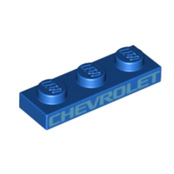 LEGO 6253639 PLATE 1X3 - BLEU IMPRIME CHEVROLET lego-6253639-plate-1x3-bleu-imprime-chevrolet ici :