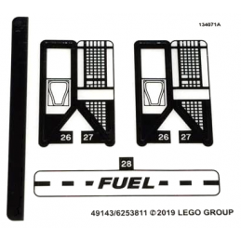 Stickers / Autocollant Lego Speed Champions 75891 stickers-autocollant-lego-speed-champions-75891-1 ici :