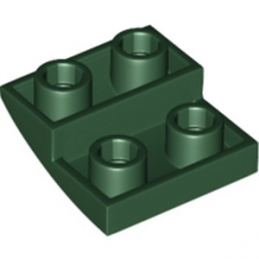 LEGO 6255896 BRIQUE 2X2X2/3, INVERTED BOW - EARTH GREEN
