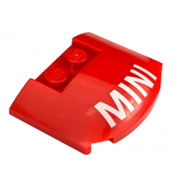 "LEGO 6256906 CAPOT 3X4X1 2/3 ROUGE IMPRIME ""MINI"""