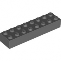 LEGO 6187438 BRIQUE 2X8 - DARK STONE GREY