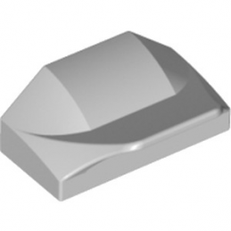 LEGO 6254402 PLATE W. BOWS 2X1½ - MEDIUM STONE GREY