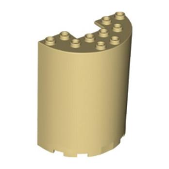 LEGO 6262014 MUR / CLOISON  ARRONDIE 3X6X6 - BEIGE