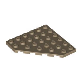 LEGO 6030845 CORNER PLATE 6X6X45° - SAND YELLOW