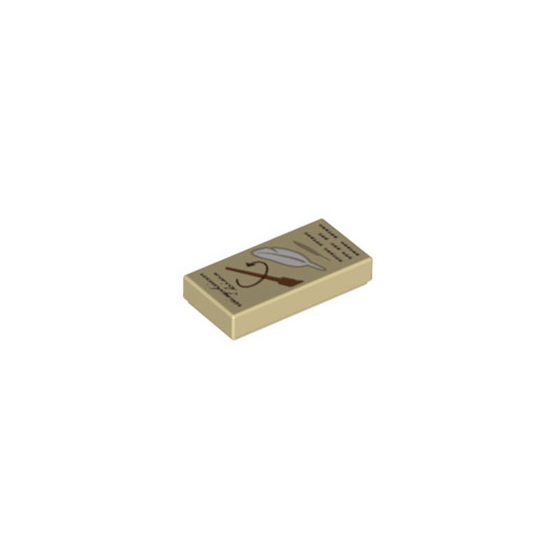 LEGO 6236728 PAGE LIVRE DE MAGIE 1X2 - IMPRIME