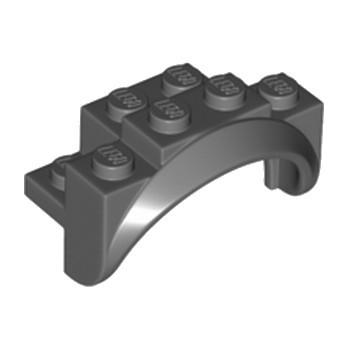 LEGO 6252543 GARDE BOUE 2X4X2 - DARK STONE GREY