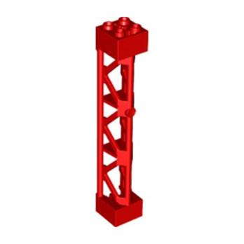 LEGO 6250028 ELEMENT DE SOUTIEN 2x2X10 W/CROSS - ROUGE